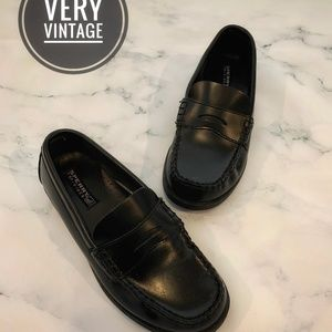 Sperry COLTON Boys Black Penny Loafer Shoes